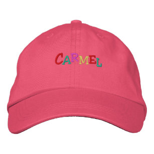 Namedrop Nation_Carmel multi-coloured Embroidered Hat