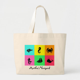 Namedrop Nation_Martha's Vineyard_multi-color Canvas Bags