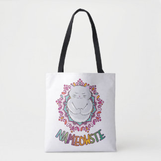 Nameowste Yoga Cat Tote Bag