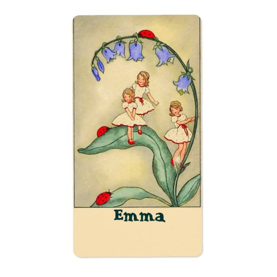 Nameplate /Bookplate Stickers with Vintage Image Shipping Label