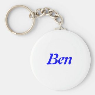 Names Collection Basic Round Button Key Ring