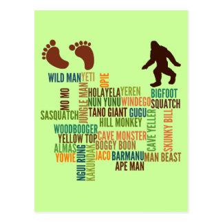 Names For Bigfoot Postcard