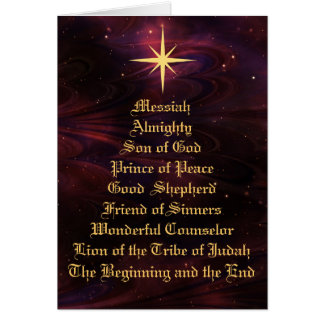 NAMES OF GOD - Christian Christmas Card
