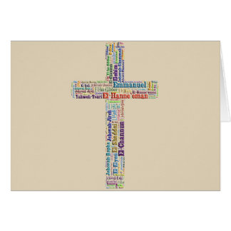 Names Of God Cross Card