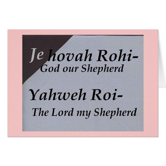 Names of God Scripture collection Card