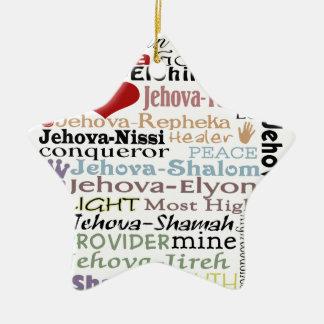 Names of God-Subway Art Christmas Ornaments