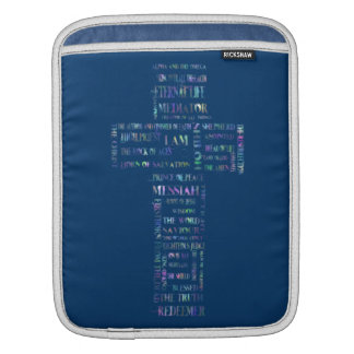 Names of Jesus Cross iPad Sleeve