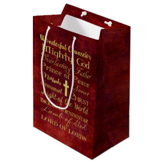Names of Jesus Red Gift Bag