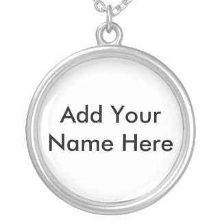 Names Silver Plated Necklace