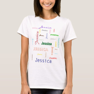 Names Word Cloud Bright Typography T-Shirt
