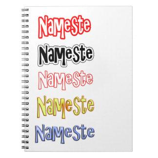 Nameste NAMESTE Hindi Indian  Hello  Bow Note Books