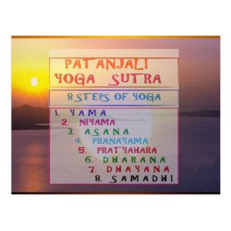 NAMESTE Patanjali Yoga Meditation Sutra Text Style Postcard