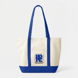 NAMI Greater Houston HOPE Tote with Blue Trim Impulse Tote Bag