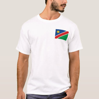 Namibia Flag and Map T-Shirt