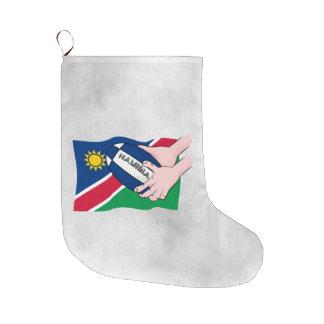 Namibia Flag Rugby Ball Cartoon Hands