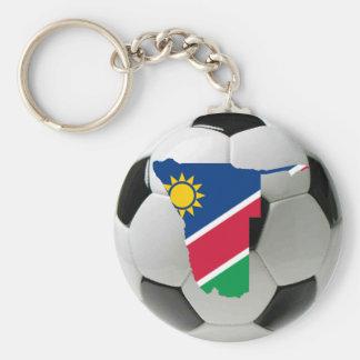 Namibia football soccer basic round button key ring