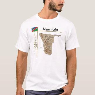 Namibia Map + Flag + Title T-Shirt