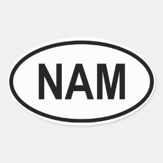 "Namibia ""NAM"" Oval Sticker"