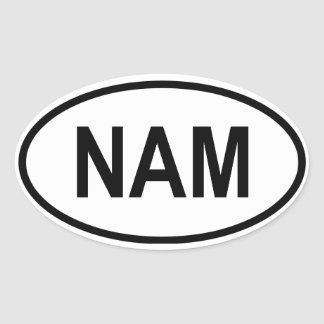 Namibia NAM Oval Sticker