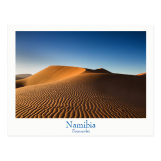 Namibia - Sossusvlei desert postcard with text