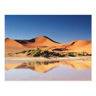 Namibia, Sossusvlei Region, Sand Dunes at desert Postcard
