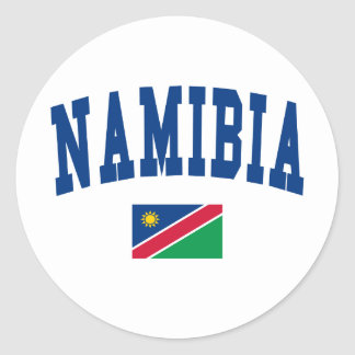 Namibia Style Classic Round Sticker
