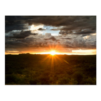 Namibia - Sunset over the plains Postcards