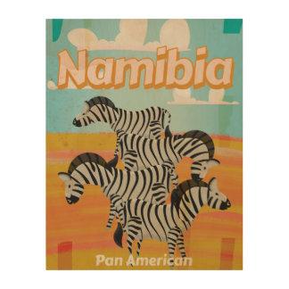 Namibia Vintage Travel Poster
