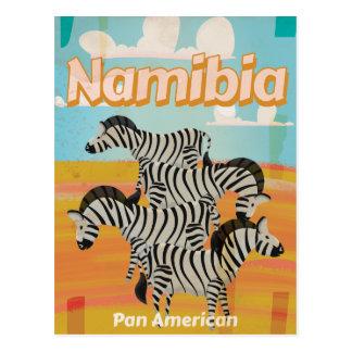 Namibia Vintage Travel Poster Postcard