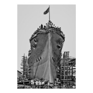 Naming Ceremony for BB-39:  USS Arizona Poster