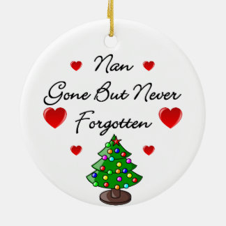 Nan Ceramic Memorial Christmas Tree Ornament