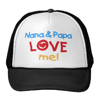 Nana and Papa Love Me Mesh Hats
