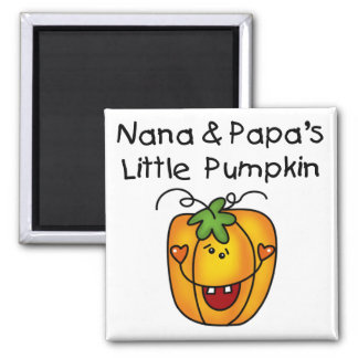 Nana and Papa's Little Pumpkin T-shirts Square Magnet