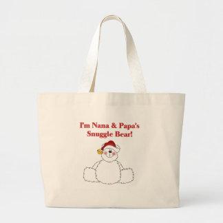 Nana and Papa's Snuggle Bear Jumbo Tote Bag