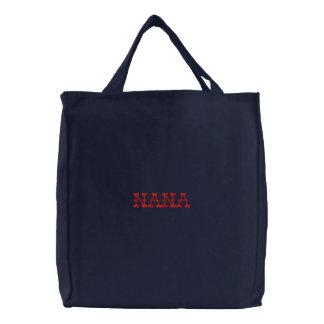 Nana Embroidered Tote Bag