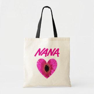 Nana Flower Heart Budget Tote Bag