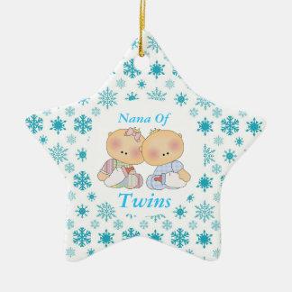Nana Grandma Of Twins Star Ornament Gift