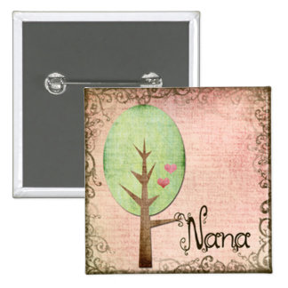 nana heart tree pink pin