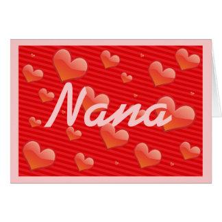 Nana Hearts Greeting Card