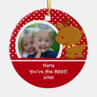 Nana Photo Reindeer Christmas Ornament