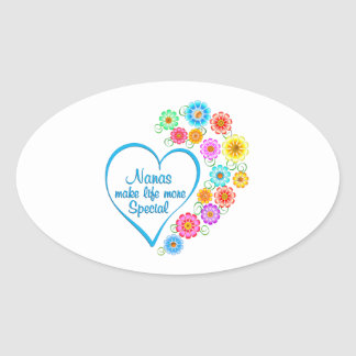 Nana Special Heart Oval Sticker