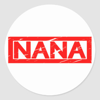 Nana Stamp Classic Round Sticker