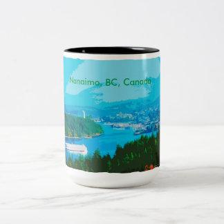 Nanaimo BC cutout Two tone 15oz mug