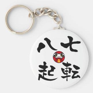 """""""Nanakorobi Yaoki"""" KANJI Key Ring"""