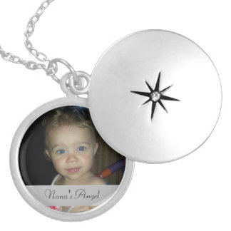 Nana's Angel Round Personalized Locket