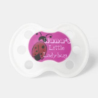 Nana's little ladybug baby pacifier