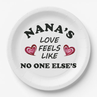 Nana's Love Paper Plate