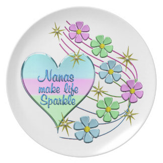 Nanas Make Life Sparkle Plate
