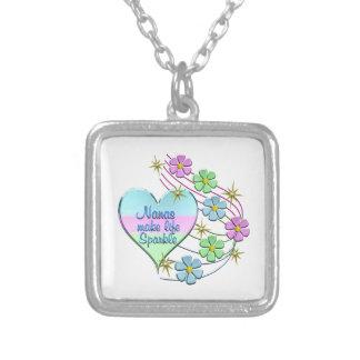 Nanas Make Life Sparkle Silver Plated Necklace