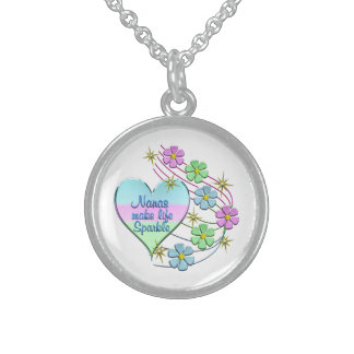 Nanas Make Life Sparkle Sterling Silver Necklace
